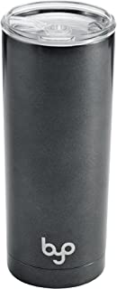 BYO 5212988 Double Wall Stainless Steel Vacuum Insulated Tumbler, 20-Ounce, Metallic Gunmetal