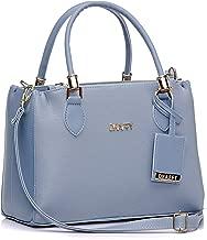 Bolsa Feminina Dhaffy Azul Lorena, Alça de Mão e