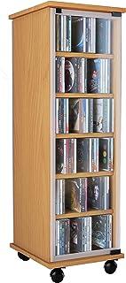 VCM Valenza-Torre para CD/DVD, para 300 CDs, Color Haya, Haya, Haya