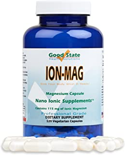 Good State ION-MAG - Ionic Magnesium Capsules - (115 mg Each Serving) (120 Veggie Capsules)
