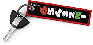 KEYTAILS Keychains, Premium Quality Key Tag for Motorcycle, Sportbike [1 Down 5 Up - 65432N1]