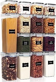 Vtopmart Lot de 15 boîtes hermétiques avec couvercles en plastique sans BPA pour ranger la cuisine, l'organisation et le s...