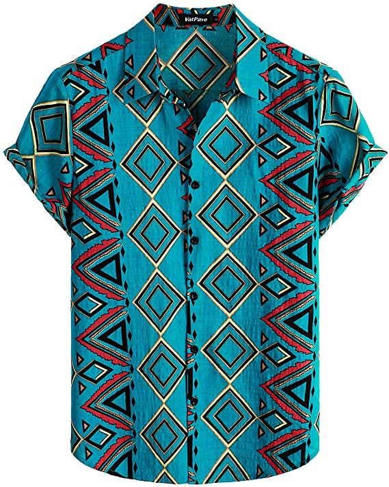90s Outfits for Guys | Trendy, Party, Cool, Casaul VATPAVE Mens Summer Tropical Shirts Short Sleeve Button Down Aloha Hawaiian Shirts  AT vintagedancer.com