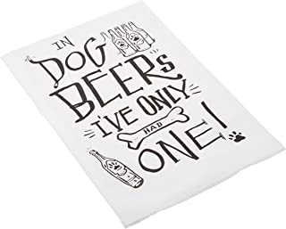 Primitives by Kathy LOL Made You Smile Dish Towel, 28 x 28-Inches, In Dog Beers
