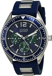 GUESS Mens Quartz Watch, Analog Display and Silicone Strap - W1167G1