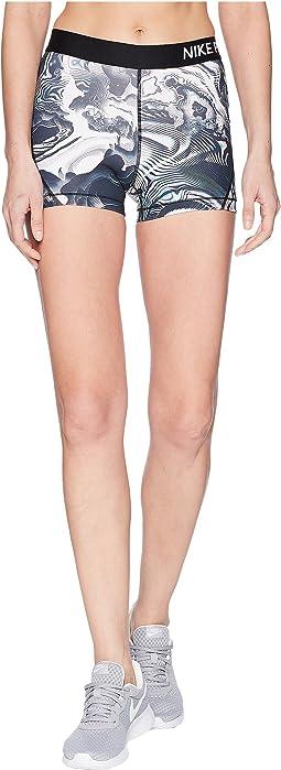 "Nike Pro Coral Print Shorts 3"""
