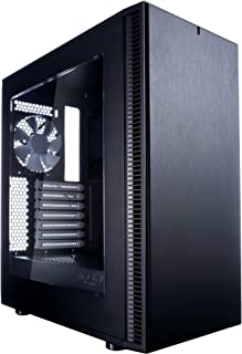 Fractal Design Core Define C - Compact Mid Tower Computer Case - ATX - Optimized for High Airflow and Silent Computing with Moduvent Technology - 2X 120mm Silent Fans Included - PSU Shroud - Black Tg