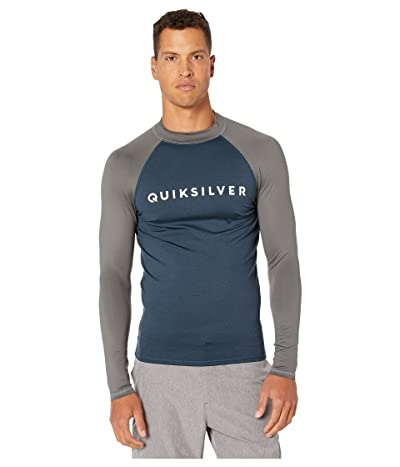 Quiksilver Always There Long Sleeve Rashguard (Moonlit Ocean Heather) Men