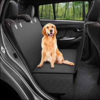 Dog Back Seat Cover Protector Waterproof Scratchproof Nonslip Hammock for Dogs Backseat Protection Against Dirt and Pet Fur Durable Pets Seat Covers for Cars Trucks SUVs
