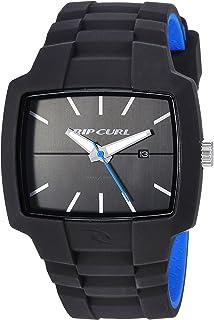 Rip Curl Men's Tour Quartz Sport Watch with Silicone Strap, Black, 24 (Model: A2749-BLB