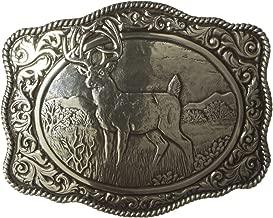 Nocona Men's Crumrine Silver Deer Scaloped Buckle