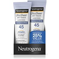 2-Pack Neutrogena Ultra Sheer Dry-Touch SPF 45 Sunscreen Lotion (3 fl. oz)