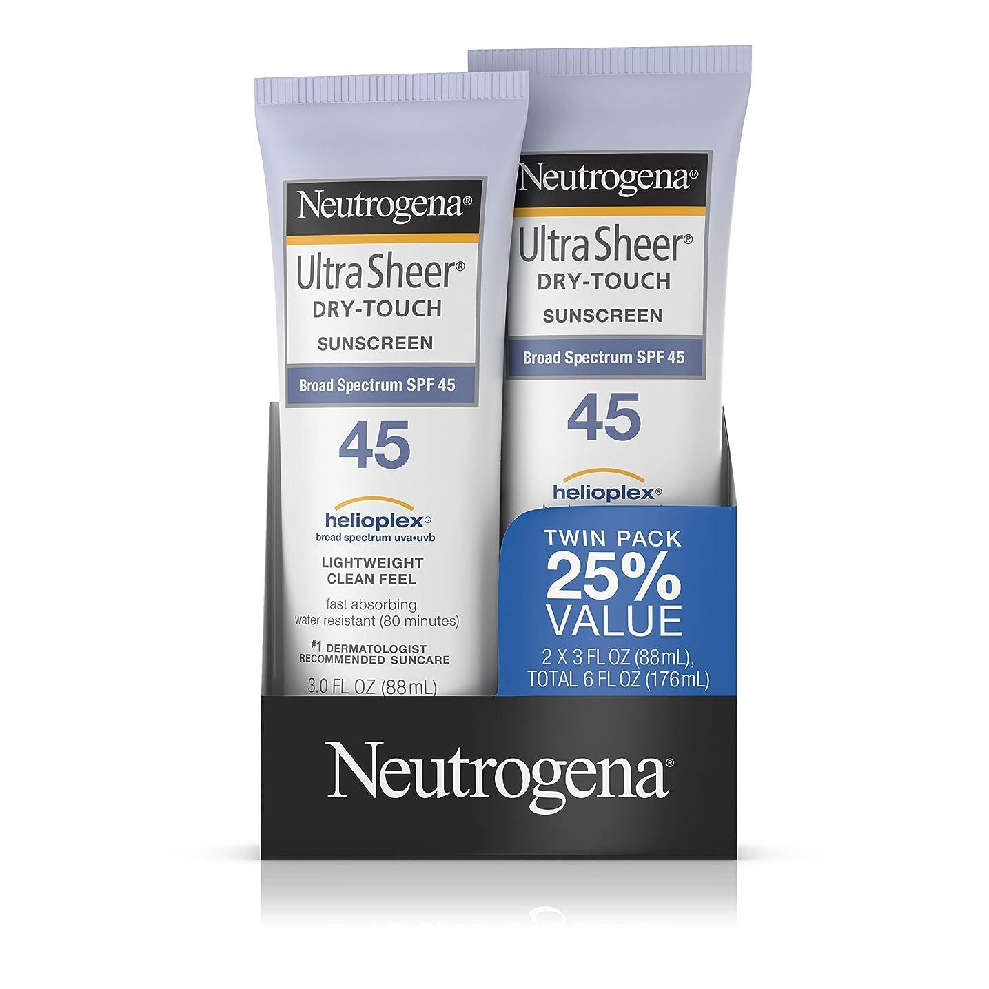 気体の昆虫悪魔Neutrogena Ultra Sheer SPF 45 Twin Pack 89 ml (並行輸入品)