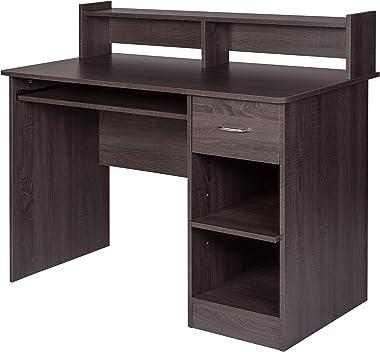 OneSpace Essential Computer Desk Grey Oak