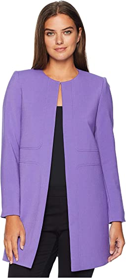 Round Neck Open Topper with Seam Detailing