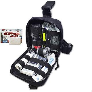 Lightning X Pre-Stocked Drop Leg IFAK Trauma Kit w/MOLLE Bleed Stop Gunshot Wound Care