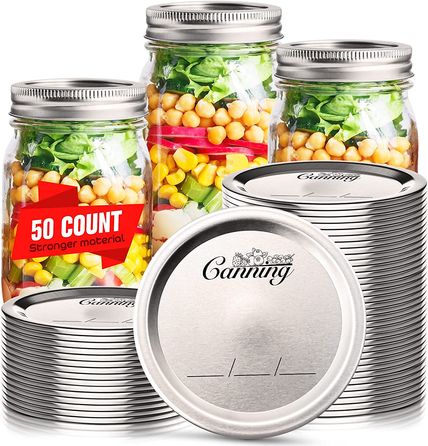 50 Count At the price Canning Ranking TOP18 Lids Regular Mouth Ball Ke Jar for Mason