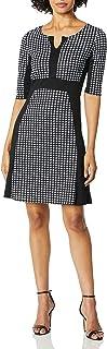 Star Vixen womens Classic Elbow-Sleeve Blk Outline Newslady Dress Dress