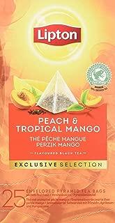Lipton Selección Exclusiva Té Negro Melocotón Y Mango - 6 Cajas Con 25 Pirámides