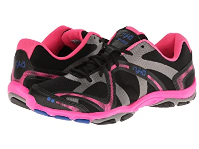 Ryka Influence (Black/Atomic Pink/Royal Blue/Forge Grey) Women