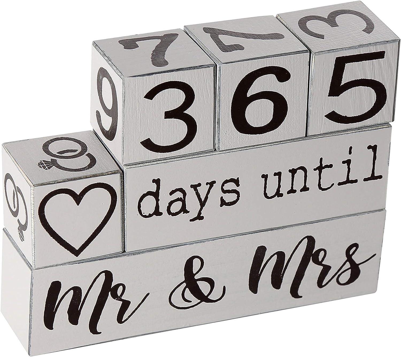 Down To Date Wedding Countdown - Popular brand In stock Block Wooden Calendar