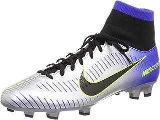 Nike Mercurial Victory Vi Racer Blue/Black - Chrome Volt Ankle-High Soccer Shoe 11.5M 10M