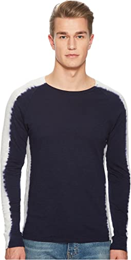 Levi's® Premium - Made & Crafted Indigo Stripe Long Sleeve T-Shirt