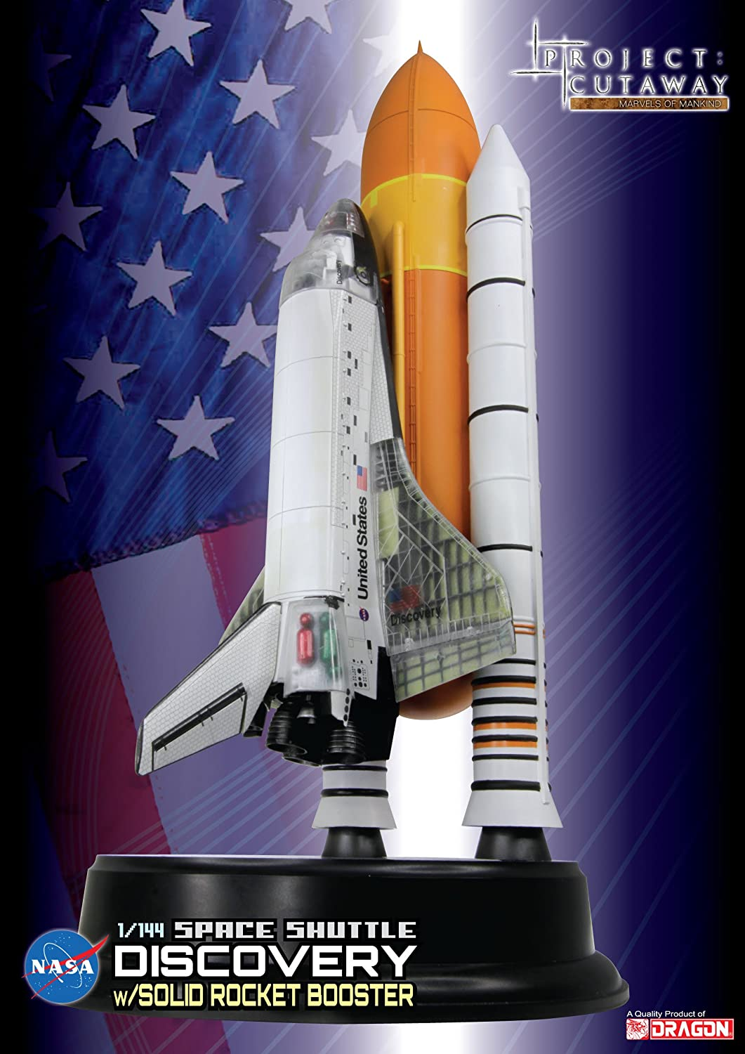 contador genuino SPACE DRAGON WINGS 1 144 Space Space Space Shuttle Discovery with Booster (japan import)  más descuento