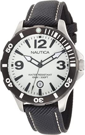 Nautica Mens N13501G BFD 101 Diver Luminous Dial Watch
