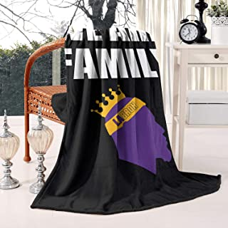 Marinas LABRON 23 WE are Family Blanket Lightweight Living Room/Bedroom Warm Throw Blanket Flannel Fleece Blanket, 59 X 79 Inch