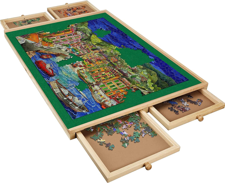 Lovinouse Premium At the price of Time sale surprise 1500 Piece Puzzle Board Felt with Wo Non-Slip