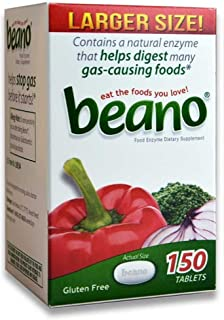 Beano® Prevents Gas & Bloating | Effective And Easy To Take - 150 Tablets