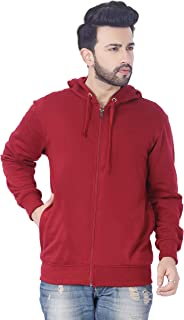 ADBUCKS Rich Cotton Full Sleeves Zipper Jacket with Hoodies for Mens
