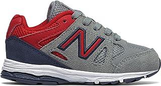(ニューバランス) New Balance 靴?シューズ キッズランニング 888 Grey with Red グレー レッド US 8.5 (15.5cm)