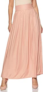 Forever Twenty One Rayon Pleated Skirt (277511031_Peach_Small)