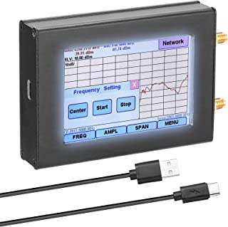 Topuality tinySA Handheld Two Inputs Tiny Spectrum Analyzer 2.8 Inch Touching Display Screen Spectrum Analyzers with 100KHz-350MHz Input Frequency Range