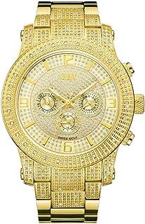 ساعة جيه بي دبليو للرجال مرصعة بـ 80 ماسة، سوار ستانلس ستيل - J6336B