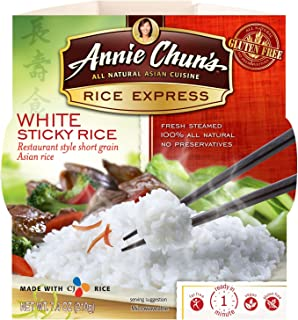 Annie Chun's Rice Express White Sticky Rice 7.4 oz (Pack of 48)