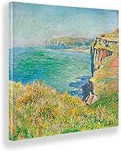 Giallobus - Schilderijen - Claude Monet - Klif op zee - Canvasdoek - 100x100 - Klaar om op te hangen - Moderne schilderije...