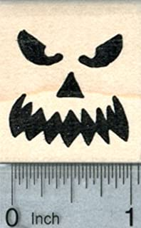 Halloween Face Rubber Stamp, Scary Expression