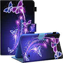 Dteck Galaxy Tab 4 8.0 inch Smart Shell Case, Stand Soft TPU Flip Case Wallet Cover with Auto Wake/Sleep Feature Cover for Samsung Galaxy Tab 4 8.0 inch SM-T330 T331 T335 T337A Tablet,Butterfly