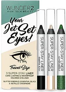 WUNDER2 JET SET EYES – Mini Super-Stay Waterproof Eyeliners In 3 Colors (Pack Of 3)
