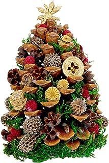 花まりか 松ぼっくり 松ぼっくりツリー クリスマスツリー (レッド)