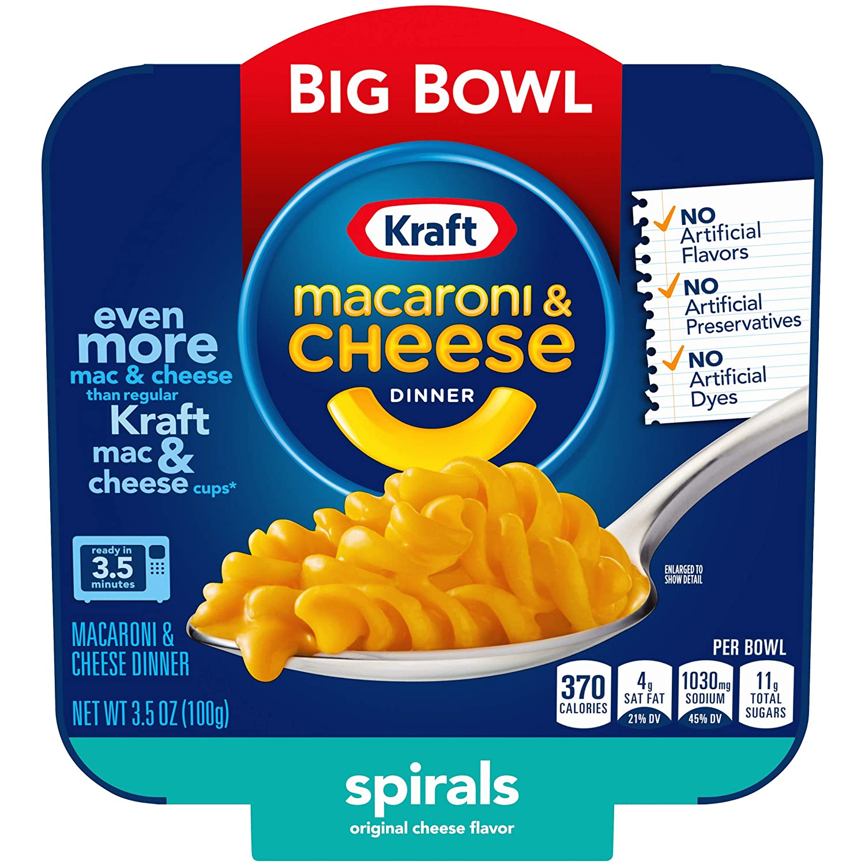 Kraft Easy Mac Big Bowl Atlanta Mall Spirals Columbus Mall 3.5 Cheese Dinner and Macaroni