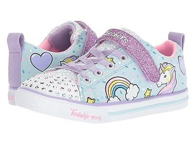 SKECHERS KIDS Twinkle Toes Sparkle Lite 10988L Lights (Little Kid/Big Kid) (Light Blue/Multi) Girl