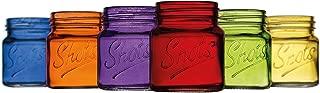 Palais Glassware Palais 'Shots' Mason Jar Shot Glasses - Mini Shot Glass Cups - Holds 2.4 Oz - Set of 6 (Colored)