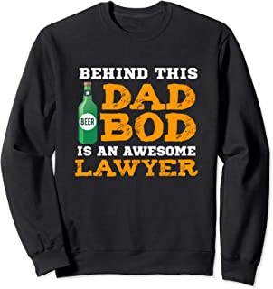 Dad Bod Shirt Funny Lawyer Father Gifts Birthday Christmas Sweatshirt