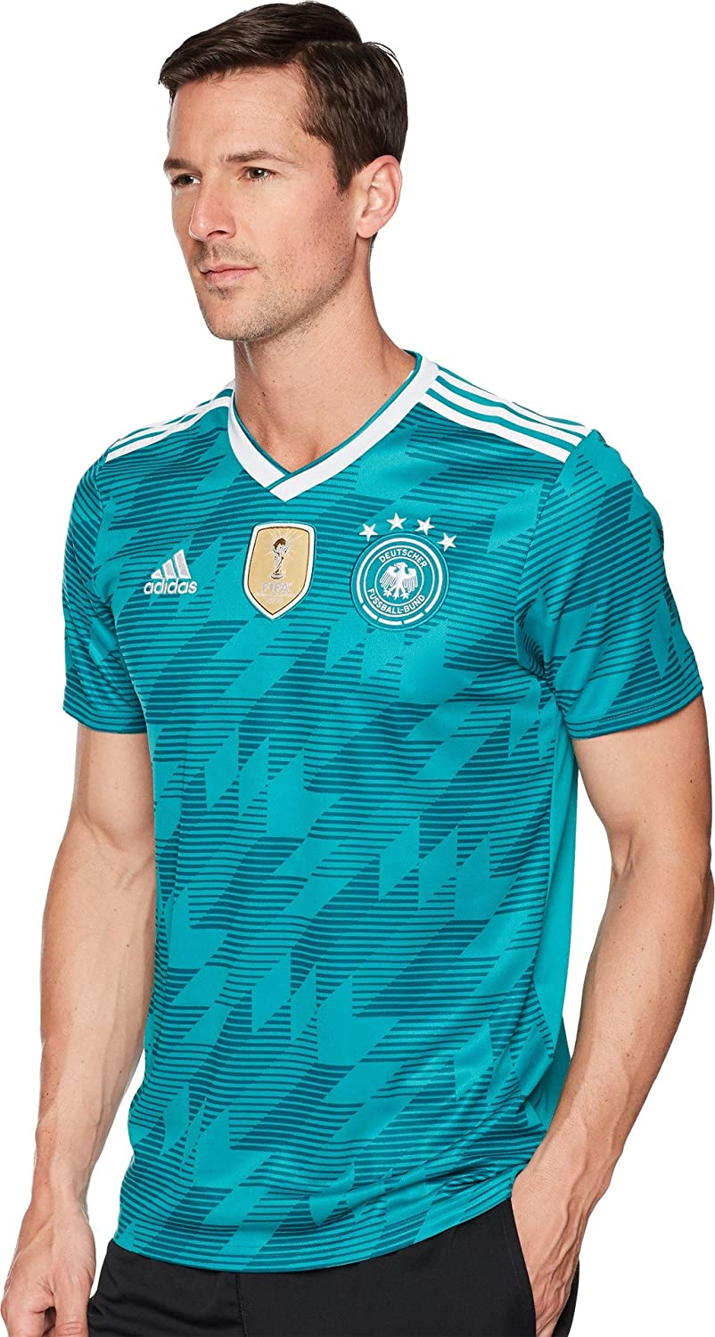 Guia Depresión Gracias  Amazon.com : adidas Mens 2018 Germany Away Jersey : Clothing