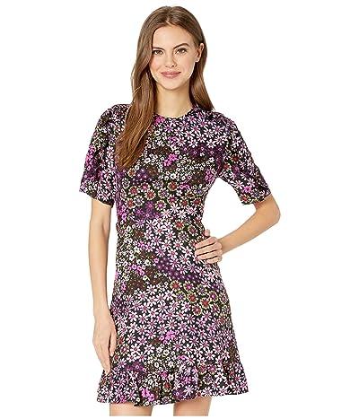 Kate Spade New York Pacific Petals Smocked Dress (Black) Women
