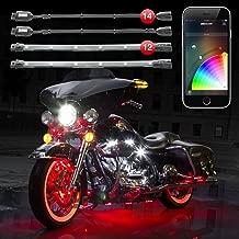 2nd Gen 14 Pod 12 Strip XKchrome App Control Motorcycle Professional LED Accent Light Kit Millions of Colors Smart Brake Feature for Harley Davidson Honda Yamaha Suzuki Kawasaki Ducati Indian Victory